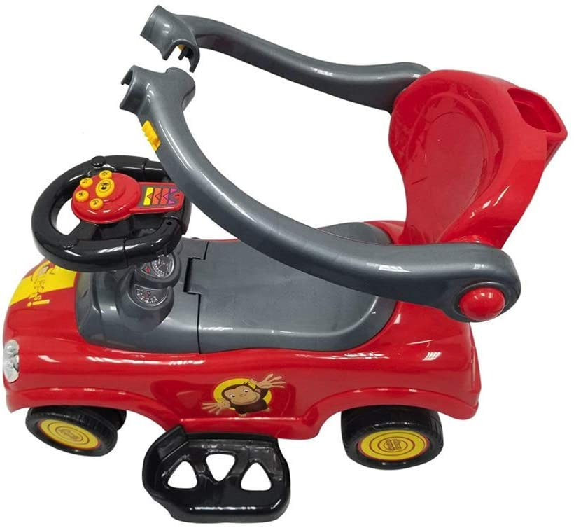 Best Ride On Cars 3 in 1 (licensed) Curious George Push Car