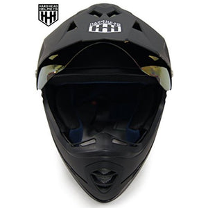 HHH DOT Youth & Kids Helmet for Dirtbike ATV Motocross MX Offroad Motorcyle Street bike Snowmobile Helmet with VISOR-Matte Black-USA