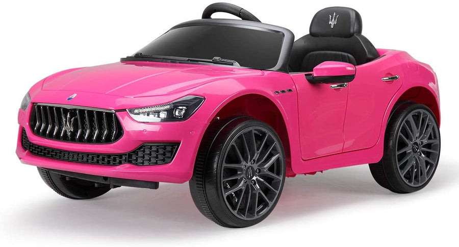 Maserati 12V Rechargeable Battery Toy Vehicle With Remote Control-Pink