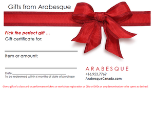 Gift Certificates $25 -200 or classcards