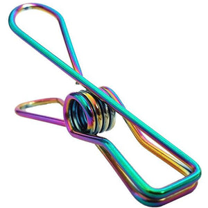 Large Stainless Steel Rainbow Clothes Pegs