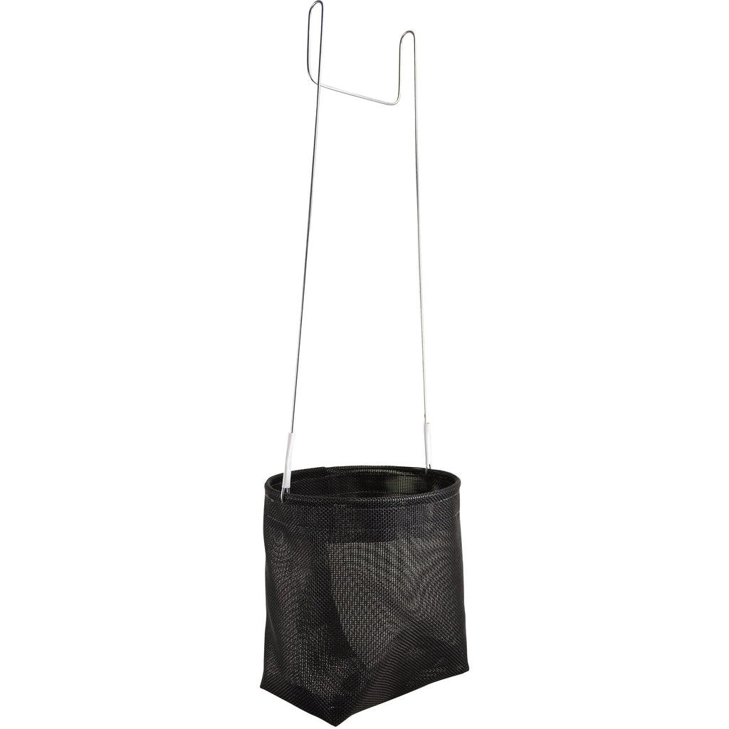 Black heavy-duty peg basket