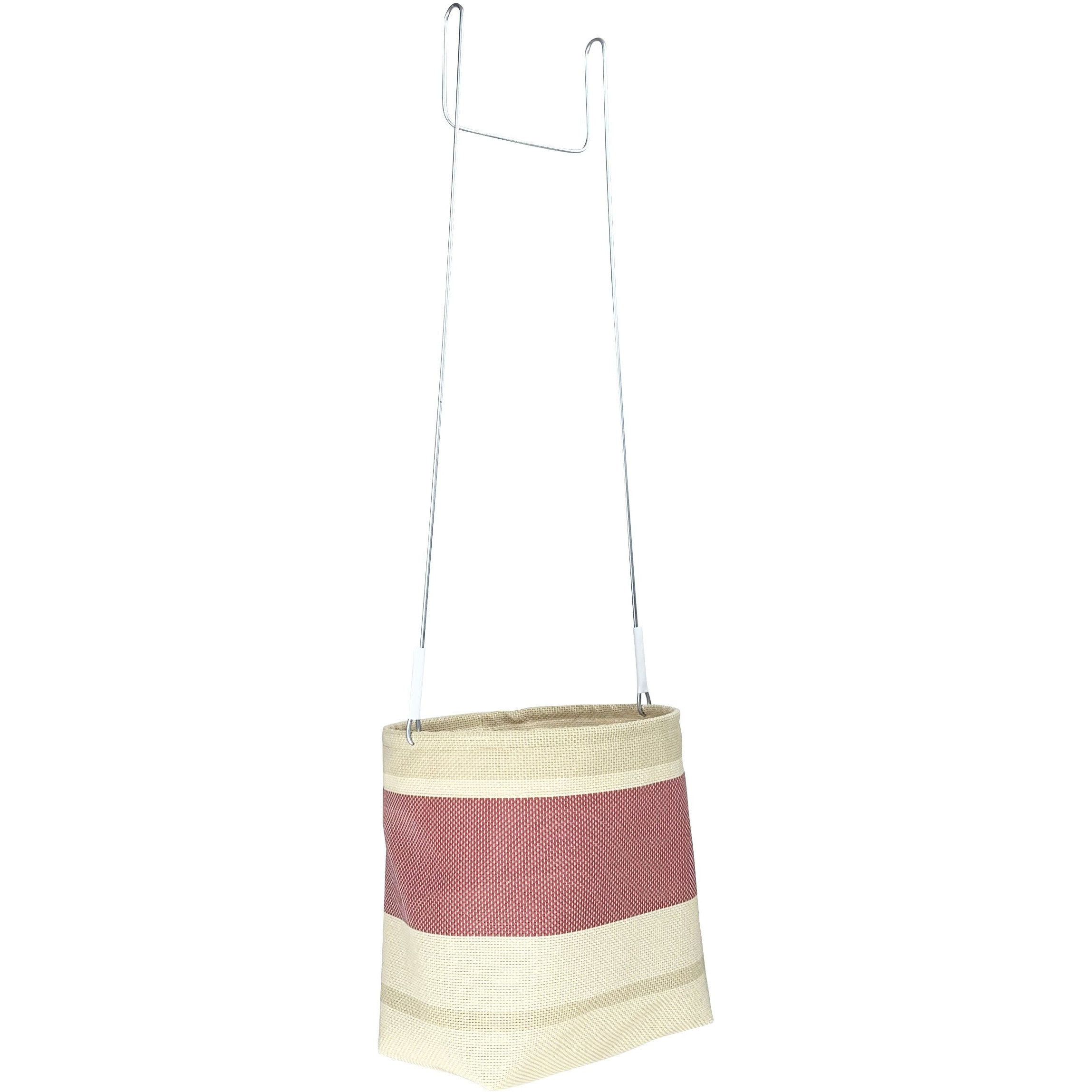 Pink and beige peg basket