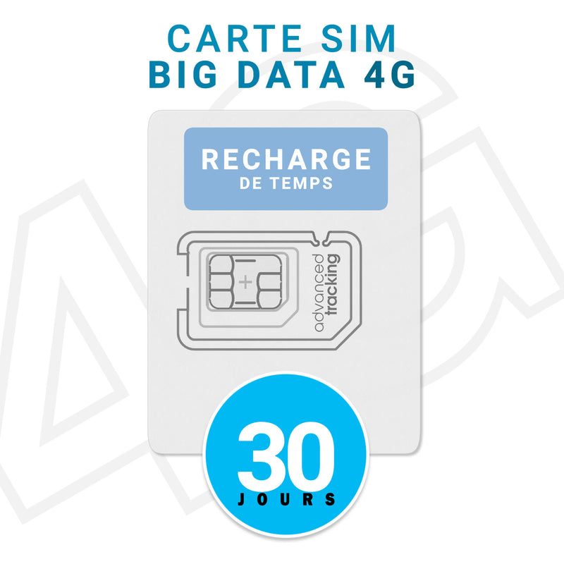 Recharge de Temps Carte SIM Prépayée BIG DATA