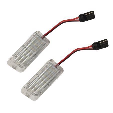 2 x 18 LED SMD License Number Plate Light For Ford Focus Mondeo Fiesta C-Max ST