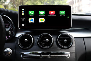 Touch Screen Android 10 And Apple CarPlay Bluetooth Unit GPS Ect For Mercedes C/GLC/V Class 2015-2018