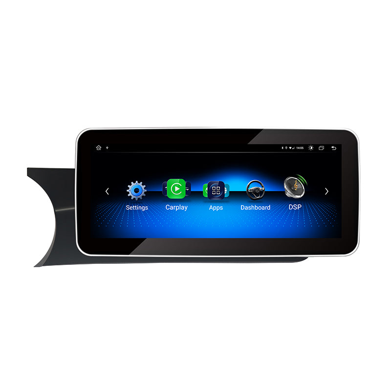 Touch Screen Android 10 And Apple CarPlay Bluetooth Unit GPS Ect For Mercedes C Class 2011-2014