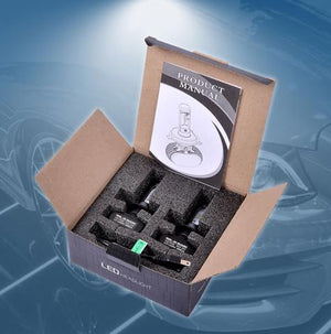 S1 LED HeadLight Conversion Kit 6000k Fanless Easy Fit 8000lm.