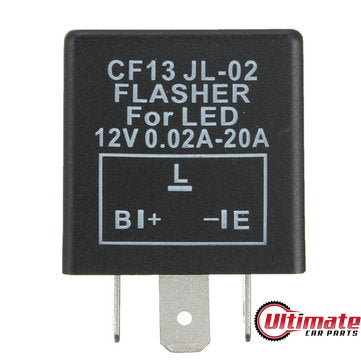 CF13 3 Pin JL-02 LED Indicator Relay Car or Bike LED Turn Signal Flasher