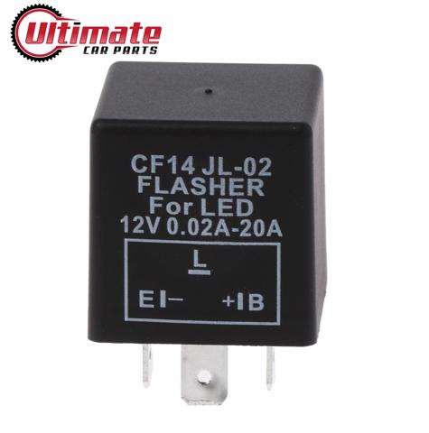 CF14 3 Pin JL-02 LED Indicator Relay Car or Bike LED Turn Signal Flasher