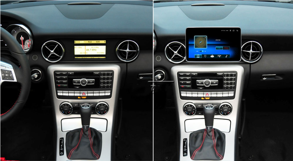 Touch Screen Android 10 And Apple CarPlay Bluetooth Unit GPS Ect For Mercedes SLK Class 2016 - 2018