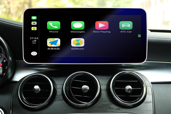 Touch Screen Android 10 And Apple CarPlay Bluetooth Unit GPS Ect For Mercedes C/GLC Class 2019-Onwards