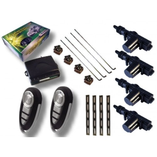 Universal Remote Central Locking Kit 4 or 2 Door Version.