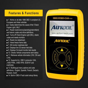 Autool CS320 OBD Professional Advanced Scan Tool For Engine System Reset And Erase