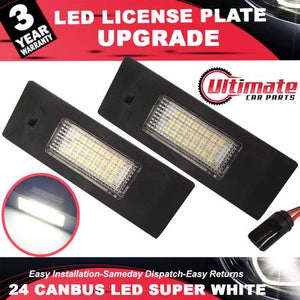 2 x 24 SMD LEd License Plate Lights For BMW 1, 6, Z Series,Mini, Z4, E81, E87, E85, E86