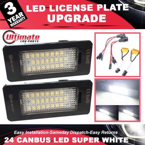 2 x 24 SMD LED License Number Plate Holder Light For Porsche Panamera