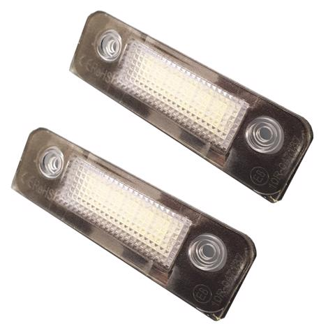 2 x 18 LED License Number Plate Holder Light For Ford Mondeo Mk2 Fiesta Mk6 Fusion