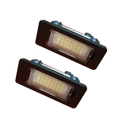 2 x 24 SMD LED Number Plate Lights For BMW 1,3,5,X Series E82,E88,E90,E91,E92,E93