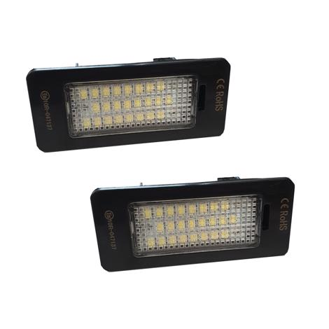 2 x 24 SMD LED License Number Plate Holder Light For VW Golf 6,Plus,Jetta,Passat