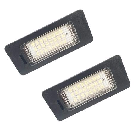 2 x 24 SMD LED Number Plate Lights For Audi TT,Q5,A4,S5,Passat. ERROR FREE R36 B8