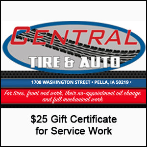 $25 Certificate for Service Work