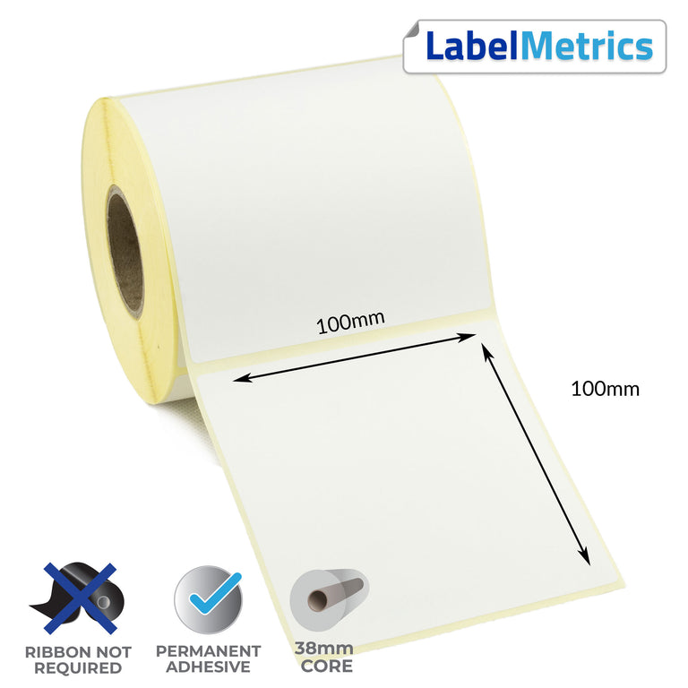 Datamax EX2 100x100mm Direct Thermal Labels
