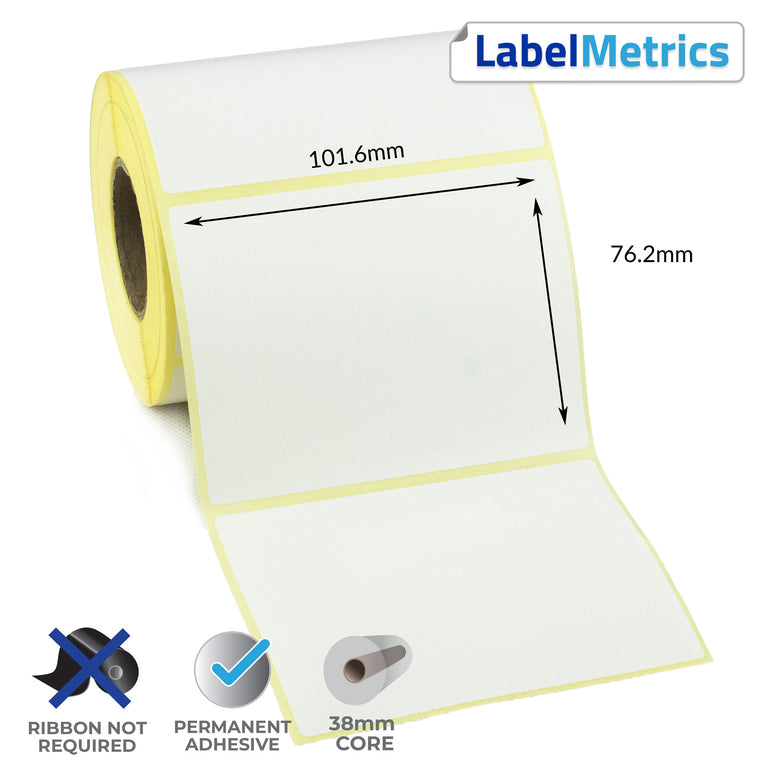 Datamax EX2 101.6x76.2mm Direct Thermal Labels