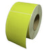100mm x 100mm Yellow Thermal Transfer Labels - Permanent Adhesive