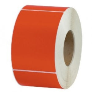 100 x 100mm Red Thermal Transfer Labels - Permanent Adhesive