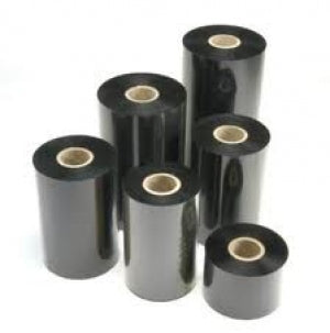 104mm x 450m Black Thermal Transfer Economy Wax Grade Ribbon x6