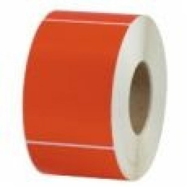 101.6mm x 152.4mm Red Thermal Transfer Labels - Permanent Adhesive