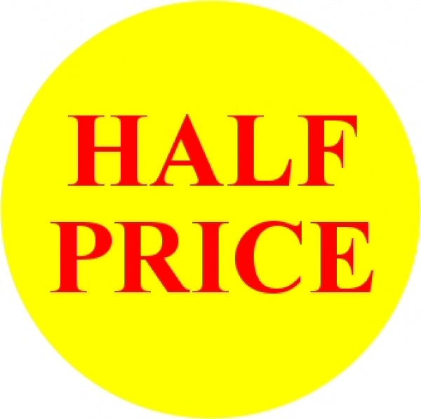HALF PRICE Promotional Label - Qty: 1000