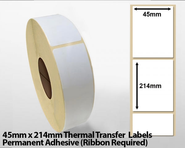 45 x 214mm thermal transfer labels - Freezer adhesive