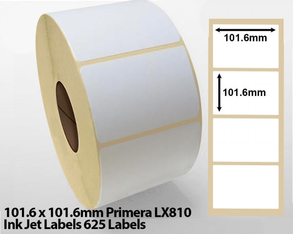 101.6 x 101.6mm Primera LX810 Ink Jet Labels 625 Labels