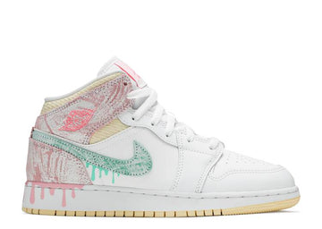 AIR JORDAN 1 MID SE 'PAINT DRIP' GS