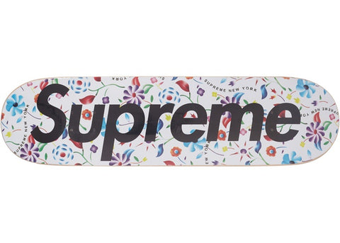 SUPREME AIRBRUSHED FLORAL DECK WHITE