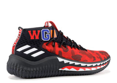 "ADIDAS DAME 4 BAPE ""A BATHING APE"" RED CAMO"