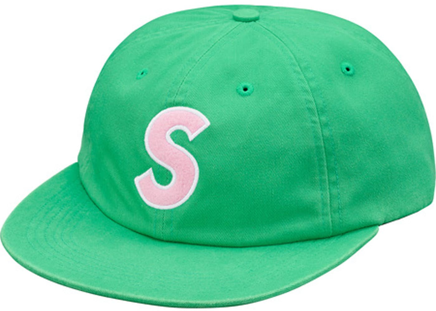 SUPREME S LOGO FELT 6-PANEL GREEN
