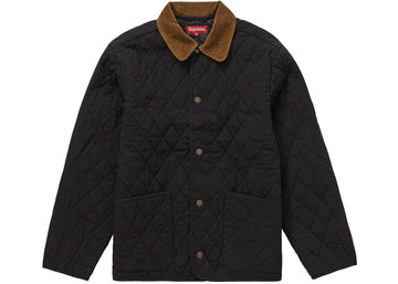 SUPREME QUILTED PAISLEY JACKET BLACK BLACK
