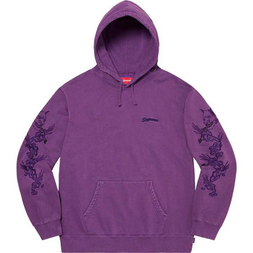 SUPREME DRAGON OVERDYED HOODED SWEATSHIRT BRIGHT PURPLE