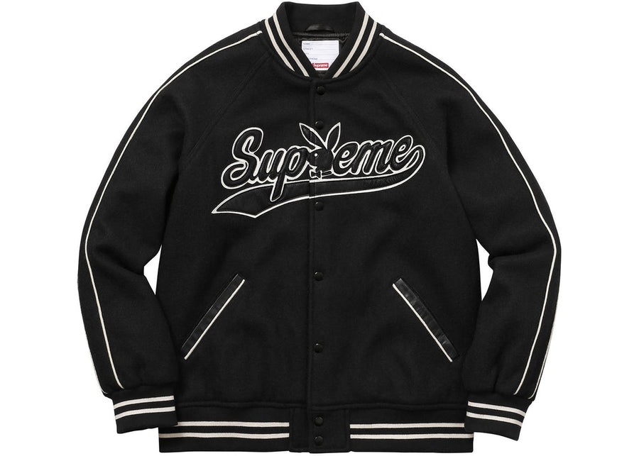 SUPREME PLAYBOY WOOL VARSITY JACKET