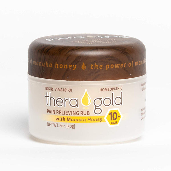 Theragold Pain Relief Cream with Manuka Honey - 2 oz - Rapid Response, Bleach-Free, All-Natural Anti-Inflammatory with Arnica - Relieves Muscle Aches, Joint Pain, Back Pain - 10+ UMF