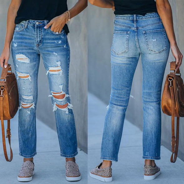 Summer Mid-waist Denim Jeans