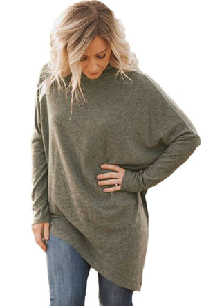 Morning Coffee Soft Faux Poncho High Neck Sweater