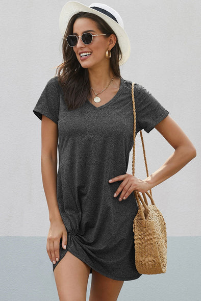 Jenna Black The Triblend Side Knot  T Shirt Dress