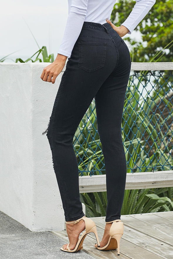 Black N Stylin Skinny Denim Pants