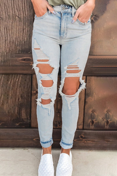 Tanisha Distressed High Waist Jeans