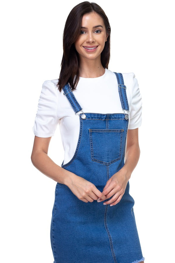Delilah Mini Denim Overalls