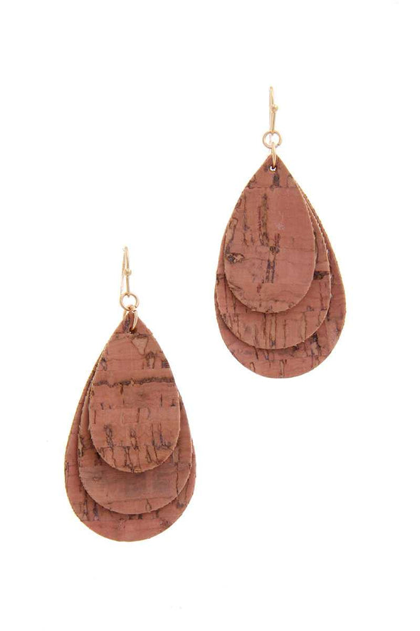 Cork From Wine Teardrop Earring