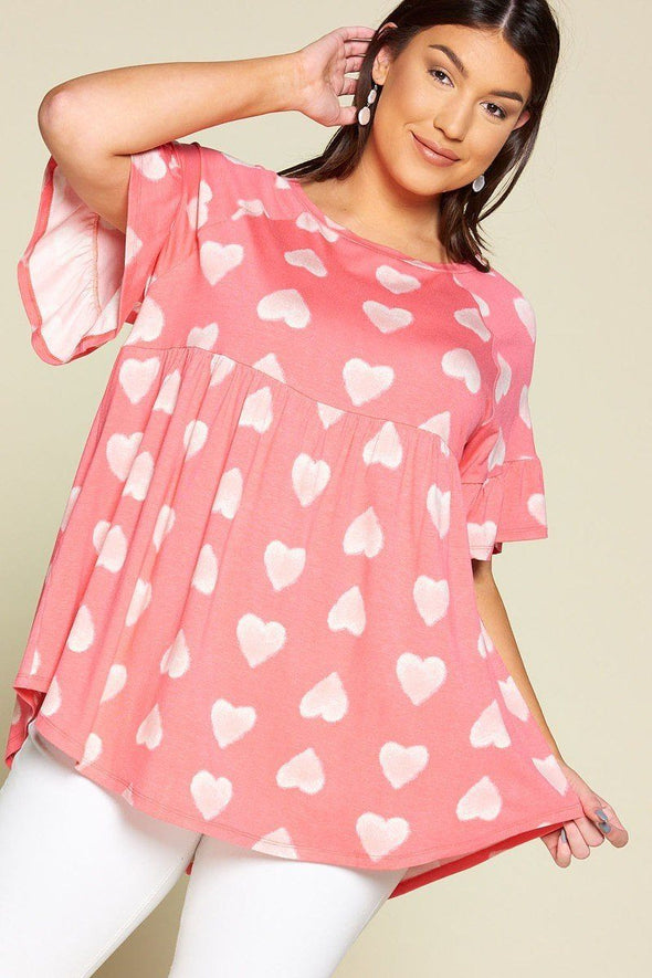 Heart to Heart Babydoll Tunic Top